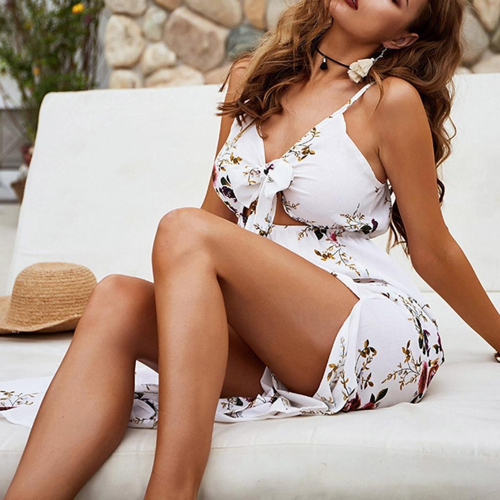 Women's Summer Fashion Hip Sexy Slim Sling Solid Sleeveless Dress