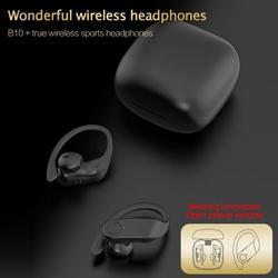 TWS B10 NEUE Led-anzeige Bluetooth Kopfhörer Ohrhörer Ohrbügel-headset Sport Kopfhörer Drahtlose Kopfhörer Für xiaomi huawei iphone