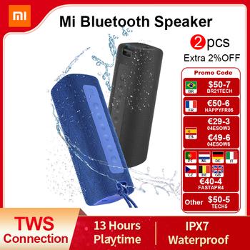 Xiaomi Mi przenośny głośnik Bluetooth Outdoor 16W TWS połączenie wysokiej jakości dźwięk IPX7 wodoodporny 13 godzin odtwarzania Mi głośnik tanie i dobre opinie Przenośne Z tworzywa sztucznego Pełny zakres 2 (2 0) CN (pochodzenie) 25 W NONE Inne Bezprzewodowe tylne głośniki