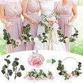 Металлическое кольцо, венок со планкой, ручная Цветочная Гирлянда подружки невесты, свадебные украшения, подвесные двери, Свадебный декор