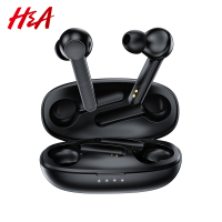 H&A Wireless Earphones Bluetooth 5.0 HIFI Stereo TWS Wireless Headphones with Mic Noise Cancelling Touch Control Gaming Headsets