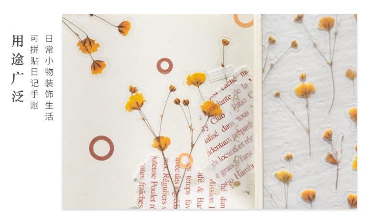 Цветок серии декоративные ПВХ наклейки s Скрапбукинг палочка этикетка дневник канцелярский альбом ретро завод эвкалипта стикер