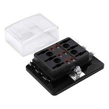 6 weg Dc 12 ~ 32V Blade Fuse Box Halter Sicherung Block Mit Led Warnung Licht Schutz Abdeckung Für automotive Auto Boot Marine Trike