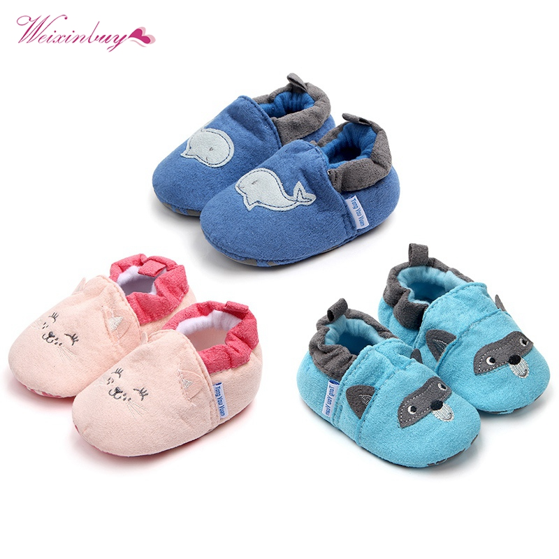 Fashion Baby Shoes Girls Boy First Walkers Slippers Newborn Baby Girl Crib Shoes Footwear Booties New Spring Autumn Winter