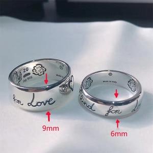S925 новый любовь бесстрашное кольцо дамы логотип высокого класса ювелирные изделия европейский и американский стиль Бесплатная доставка