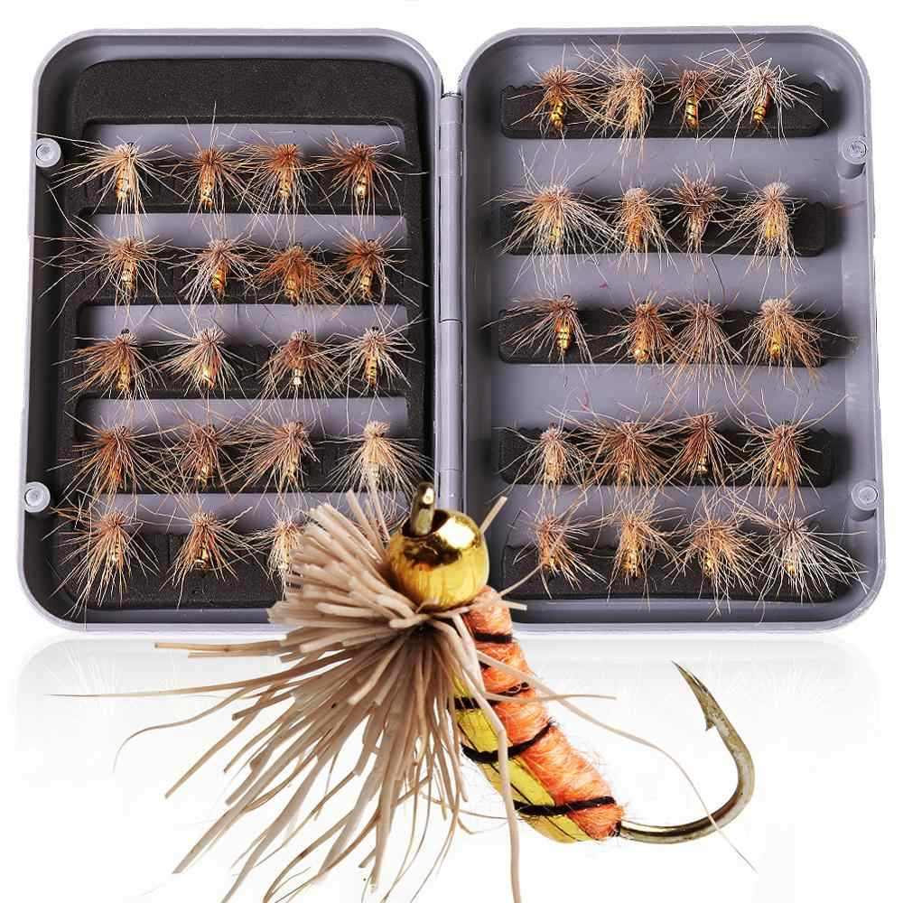 Set of 40pcs Fly Fishing Flies Lure Dry Trout Flies Colorful Ant Bait Tackle