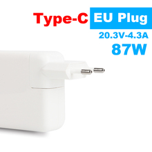 Brand New! 87W USB-C Power Adapter Type-C Charger for Latest Macbook pro 15inch A1706 A1707 A1708 A1719 EU plug