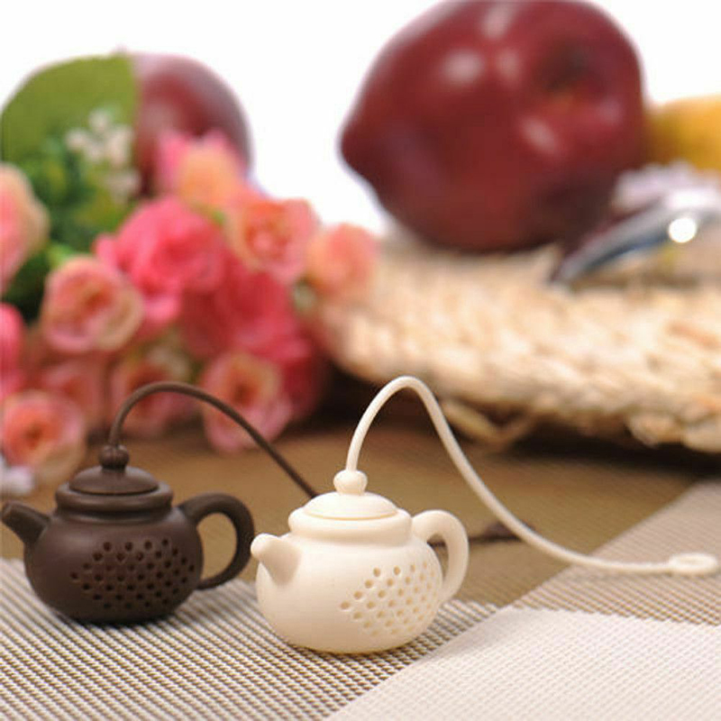 Teapot-Shape Tea Infuser Strainer Silicone Tea Bag Leaf Filter Diffuser Foldable Tea Filter