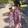 Mutter Tochter Kleider 2020 Sommer Lange Familie Passenden Kleidung Floral Print Mama Und Tochter Maxi Kleid Mama Und Mich Kleidung