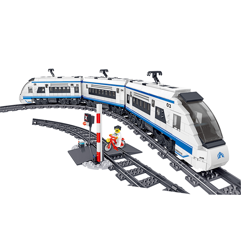 City Electric Train Building Block Fit Legoing Technic high-speed Steam Train Bricks Battery Motor Power Children Kids Toy Gift