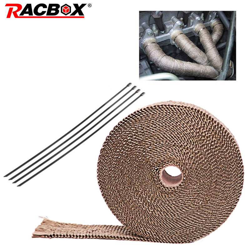 5M 10M Motorcycle Thermal Exhaust Tape Noise cancellation Heat Wrap Resistant Durable Downpipe For Motorcycle Car Accessories in Exhaust Exhaust Systems from Automobiles Motorcycles