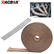 5M 10M Motorcycle Thermal Exhaust Tape Noise cancellation Heat Wrap Resistant Durable Downpipe For Car Accessories
