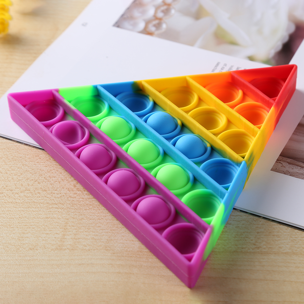 Decompression-Toys Puzzle Anti-Stress Push Bubbles Funny Triangle Safe Desktop Early-Education img5