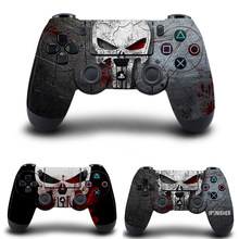The Punisher Stickers,PS4 Controller Skin Vinyl Decal Sticker Cover for Sony PlayStation 4 DualShock 4 Wireless Controller(China)