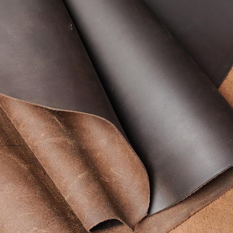 2,0 мм темно-коричневый натуральная кожа новая crazy horse кожа коровья кожа первый слой Материал Кожа ремесло сделай сам