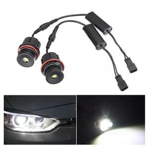 Image 2 - A pair of 80w single 40w 4LED Angel Eye Lights for BMW E39 E53 E60 E63