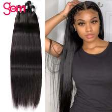 30 Polegada cabelo reto 3 pacotes negócio do cabelo humano 3 / 4 pacotes gem beleza remy cabelo peruano pacotes