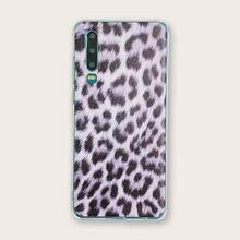 Прозрачный чехол для телефона huawei с леопардовым принтом p20/p20