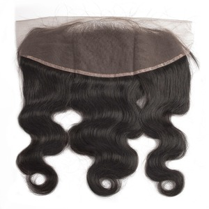 Image 5 - human hair bundles with frontal body wave short natural brazillian hair extension weave preplucked 3 bundles for black women