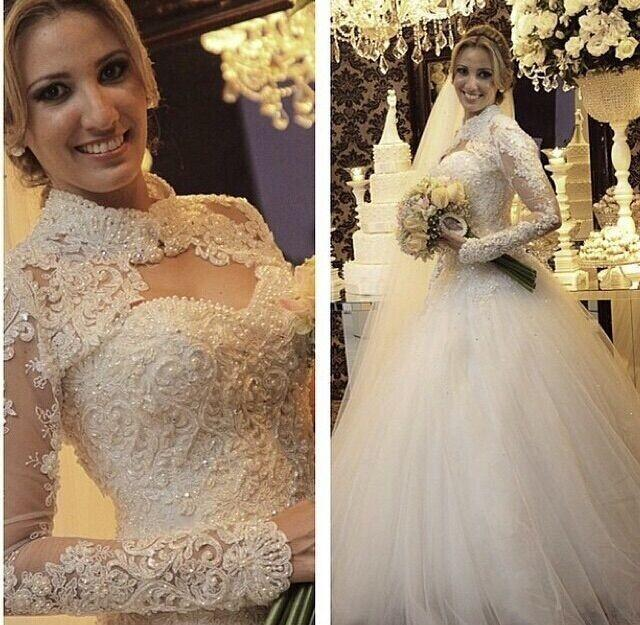 Vintage Cheap Sexy Long Chapel Train Backless Pearls Spring Muslim Bridal Gown 2018 Full Sleeve Mother Of The Bride Dresses
