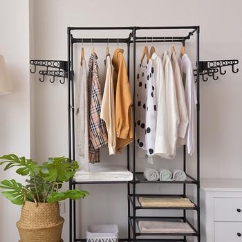 GIANTEX Clothes Hanger Coat Rack Floor Storage Wardrobe Clothing Drying Racks porte manteau kledingrek perchero de pie - discount item  30% OFF Home Furniture