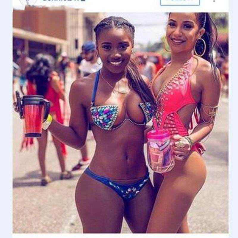 New Underwire Hard Cup Bikini Diamond Bikini Swimsuit Crystal Bikini Sewn Diamond Bikini Prom Party Costumes Stage Outfit XS1654