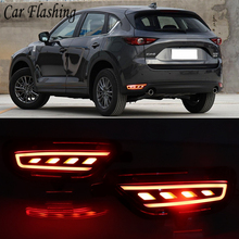 2Pcs For Mazda CX 5 CX5 2017 2018 2019 LED Rear Reflector Taillight Fog Lamp Rear Bumper Light Brake Light Turn Signal Lamp