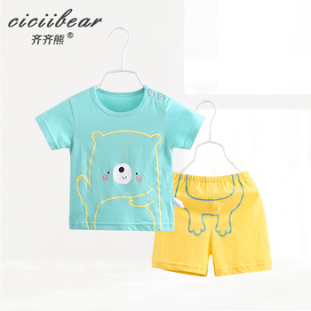 ciciibear  newborn baby clothes Baby boy Summer Cotton Clothing boys Sets girls Clothes set kids Outfits children s suit baby boy clothes set cotton long sleeve sets for newborn baby boys outfits baby girl clothing kids suits pajamas