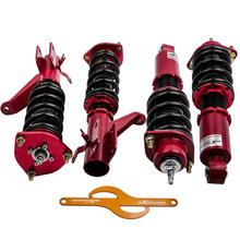 4pcs Full Adjustable Street Coilover 24 Ways Damping Levels for Honda Civic 2001 2002 2003 2004 2005 EM2