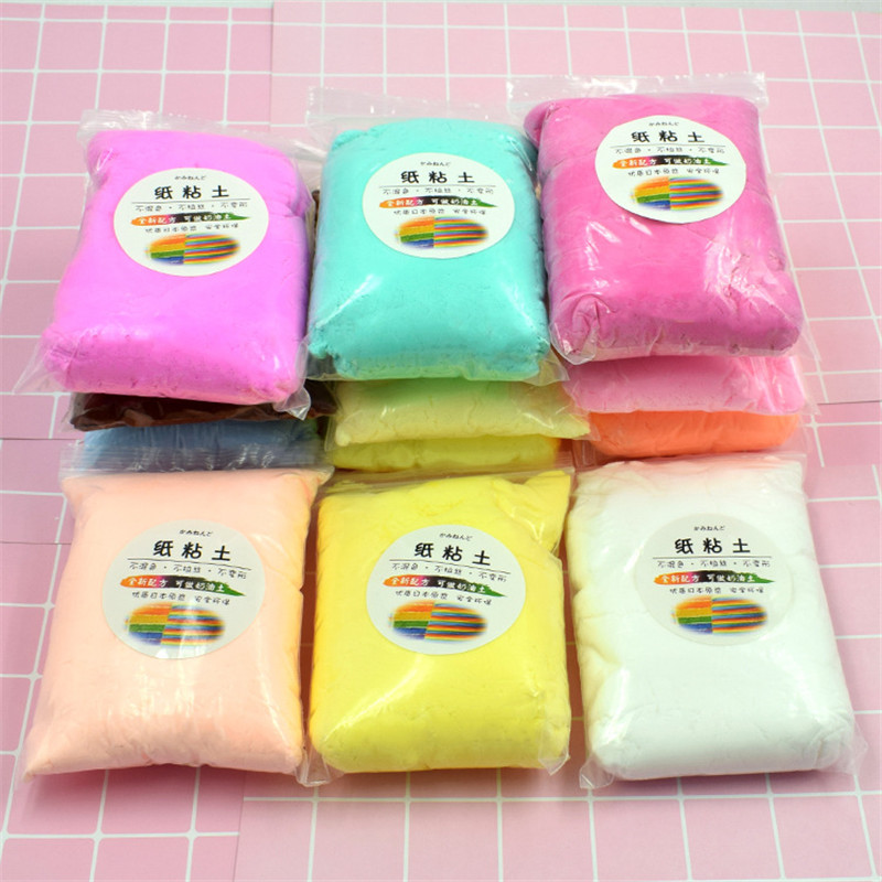 100g/pack DIY Slime Polymer Paper Clay Light Soft Clay Molding Baking Clay Plasticine Play Doughe Educational Toys For Kids Gift