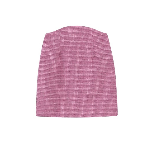 Toppies 2021 Fashion Short Tweed Jacket Short Blazer Woman Suit Set High Waist Mini Skirts Female Three Piece Set 5
