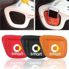 Dla Smart Fortwo Forfour 453 451 telefon komórkowy do samochodu rozmaitości karty Stroage Bag Mesh w organizator bagażnika torba na pałeczki perkusyjne samochód stylizacji