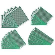 20 pçs/lote 5x7 4x6 3x7 2x8 Cm Lateral Única Prototype PCB Placa de Circuito Impresso 5*7 4*6 3*2*8 7 Universal da Placa do PWB Placa De Solda