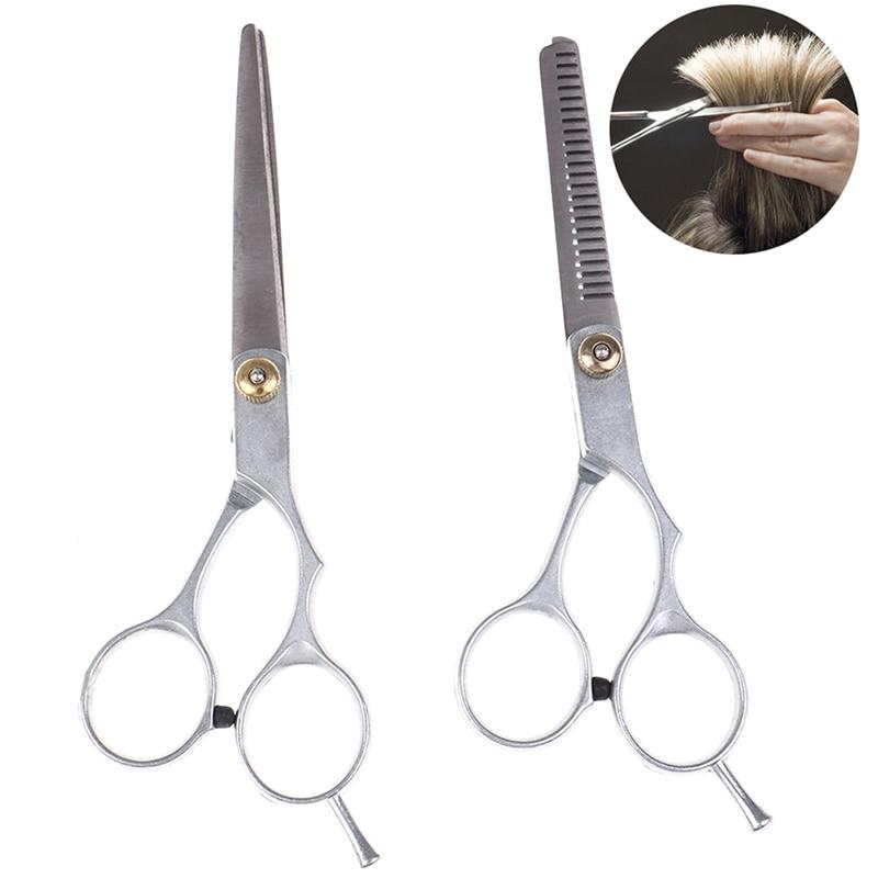 2pcs/set Salon Professional Barber Hair Cutting Hair Salon Thinning Scissors Shears Hairdressing Set Hairdressing Styling Tool