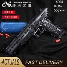 Пистолет Desert Eagle модель Uzi MK23, 412 шт., Полицейский спецназ, игрушки для детей, подарки для мальчиков