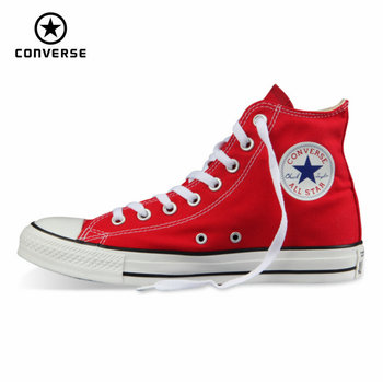 цена на Original Converse all star shoes men and women's sneakers canvas shoes men women high classic Skateboarding Shoes free shipping