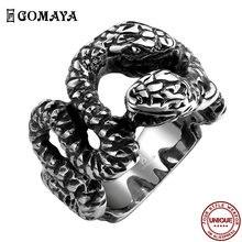Мужские кольца gomaya 316l из нержавеющей стали индивидуальное