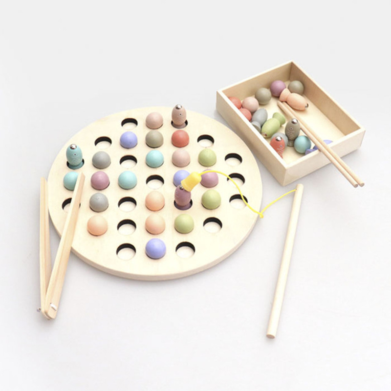 Montessori Puzzle Toys 3D Cognitive Strawberry Grasping Ability Wooden Toy Early Educational Puzzle Catch Worm Game Baby Toys 19