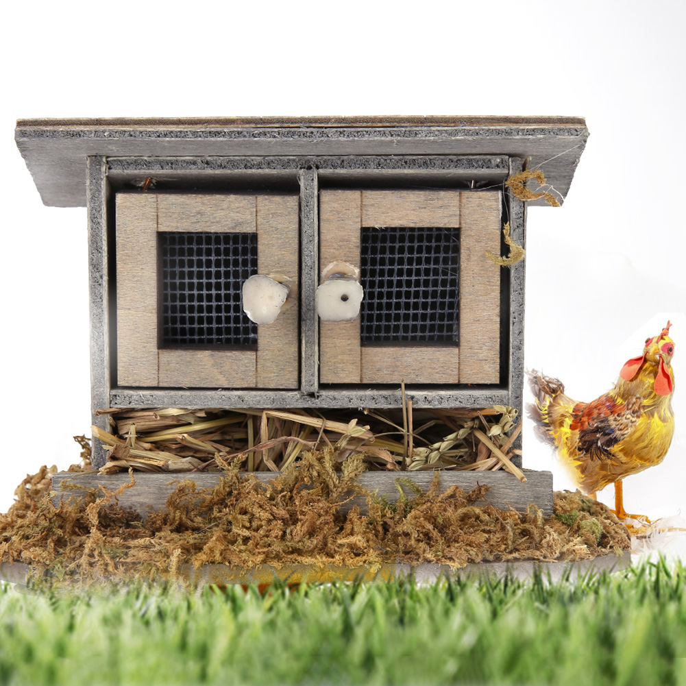 Chickens Miniature  Dollhouse Doll House Picture