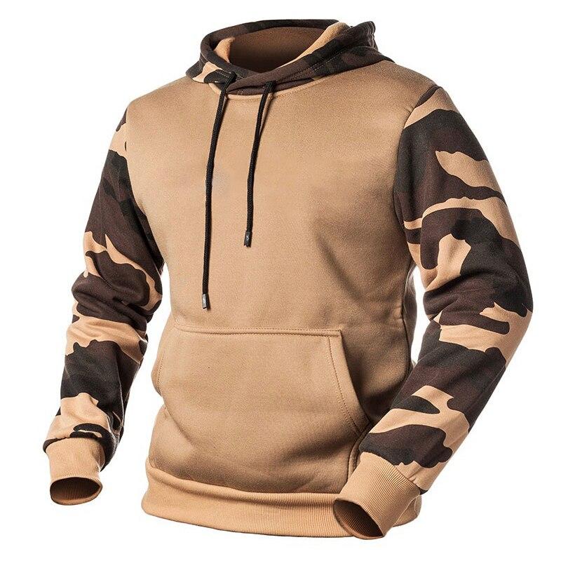 Männer Mit Kapuze Sweatshirts Camouflage Patchwork 2020 Herbst Beiläufige Hoodies Männlichen Fleece Hip Hop Streetwear Kapuzen Pullover Kleidung