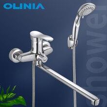 Olinia смеситель для ванной душевая система кран для ванной cмеситель для ванны смеситель на борт ванны смесители для ванной смеситель для душа душевая система смеситель для душа смеситель в ванную душевые OL8096