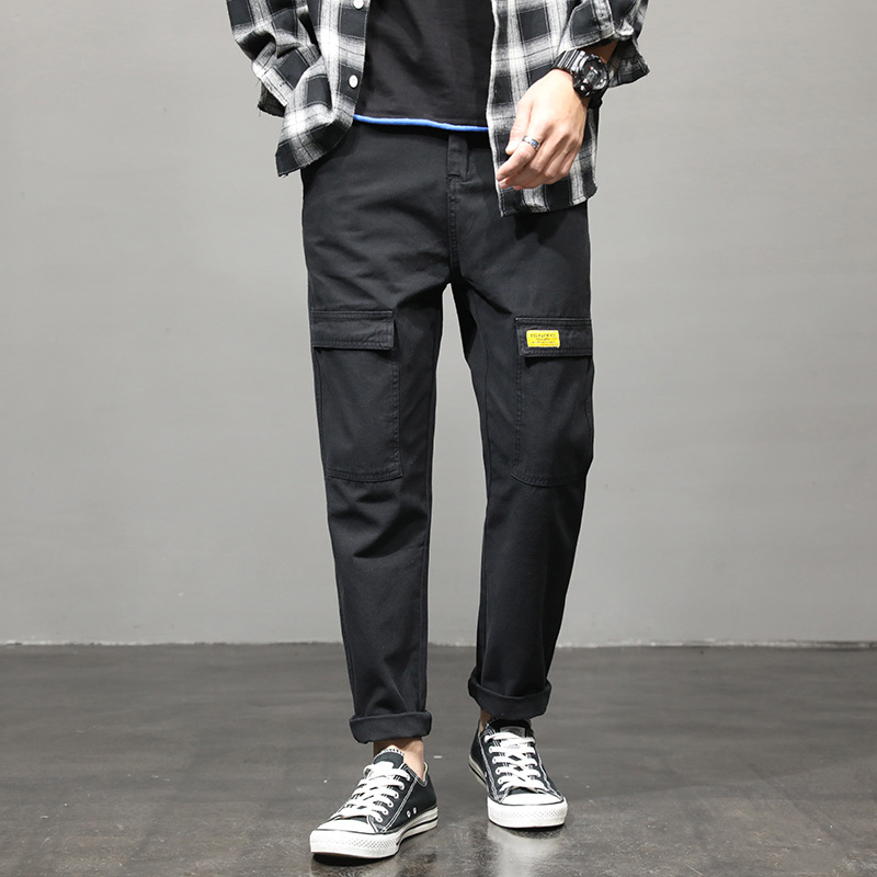 2020 New Style Casual Pants MEN'S Trousers Trend Straight-Leg Pants 16251