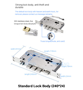Image 5 - Tuya טביעות אצבע חכם דלת מנעול Wifi קוד RFID כרטיס מפתח דיגיטלי אלקטרוני מנעול עם פעמון בריח עבור אבטחה בבית