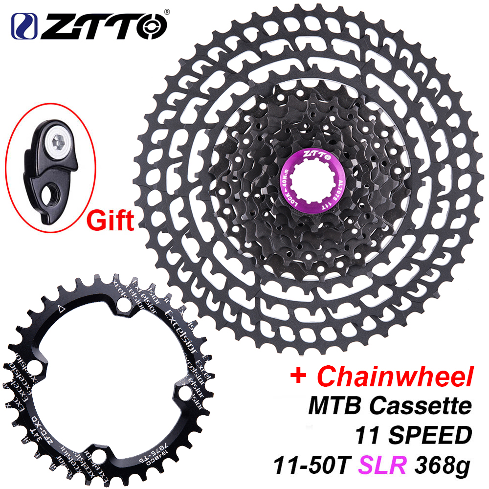 ZTTO MTB 11 Speed SLR 11 50T Bicycle Cassette 11s Ultralight CNC Colorful Freewheel Mountain Bike Sprocket HG Hub XX1 gx m9000-in Bicycle Freewheel from Sports & Entertainment