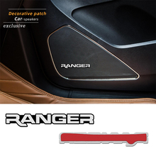 Emblem-Sticker Speaker Ford Ranger T6 4pcs Badge Car-Styling 3D Stereo 2008