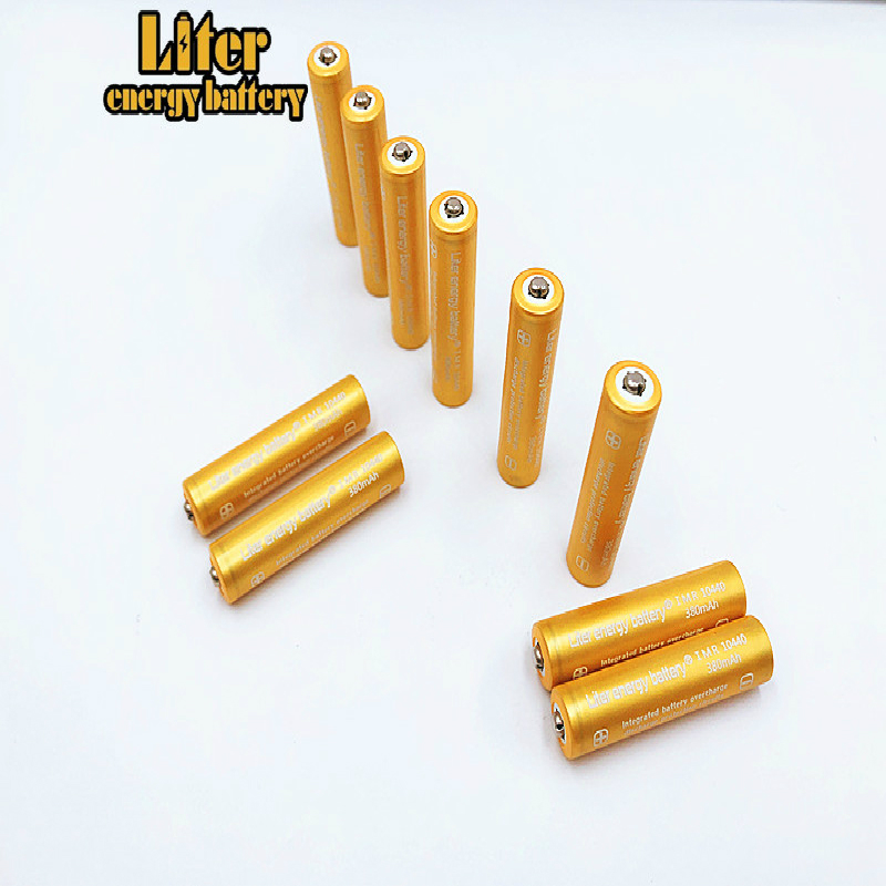 4pcs Liter Energy Battery 3.7v 380mah High Capacity 10440 Li-ion Rechargeable Battery Aaa Battery For Led Flashlights Headlamps image