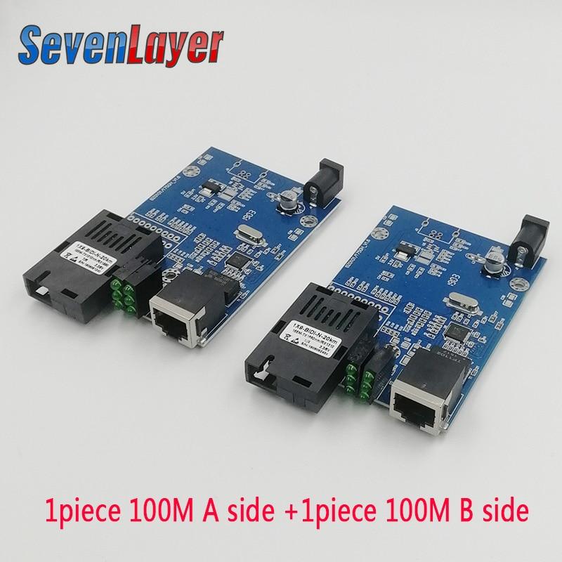 10/100M Fast Ethernet Fiber Media Transceiver Converter Switch Half Board Single Mode Single Fiber SC 25KM