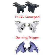 1 Pair PUBG Gaming Trigger 3 Types Mobile Phone Game Controller Joystick Shooter Fire Button For Android IOS Shooter Controller(China)