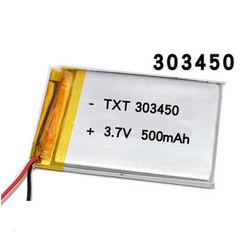 303450 3.7V 500Mah Lithium Polymeer Batterij Voor Afstandsbediening Mini Camera Led Light Bluetooth Hoofdtelefoon Speaker Lipo Bateria