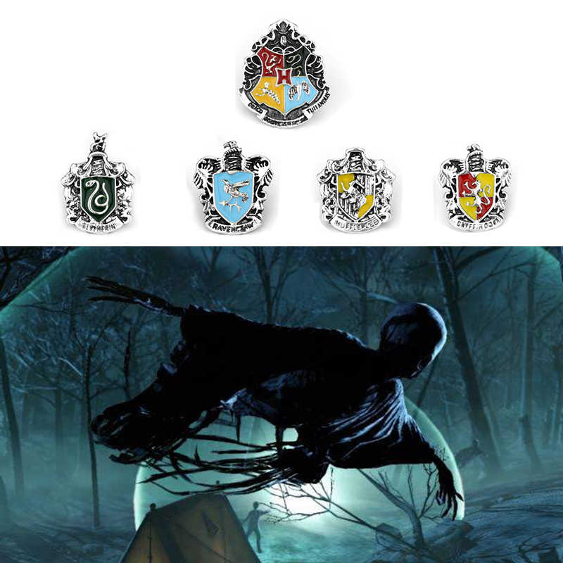 Hp Potter Sieraden Magic Academy Badge Hanger Broches Classic Huffelpuf Ravenklauw Zwadderich Logo Broche Pins